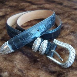 Brighton Croc Leather Belt